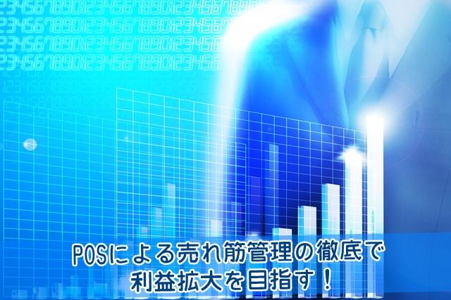 POSによる売れ筋管理の徹底で利益拡大を目指す